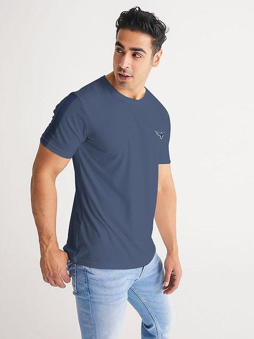 Men's Charter Stripe Performance Crewneck Deep Blue Shirt