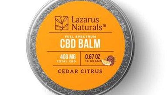 Lazarus Naturals - CBD Topical - Cedar Citrus Full Spectrum Balm - 300mg-1200mg