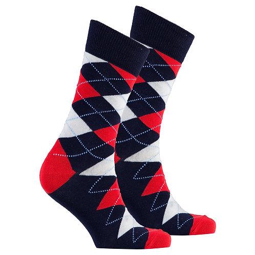 Men's Denim Argyle Socks