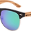 Thumbnail: Real Zebra Wood Browline Style RetroShade Sunglasses by WUDN