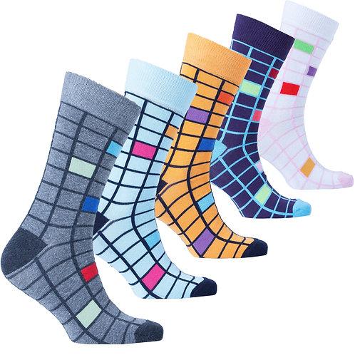 Men's Fashionable Blocks Socks