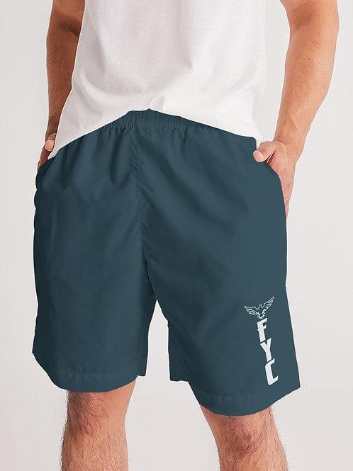 Men's Solid Coast Grey Lightweight Windbreaker Sport Jogger Shorts