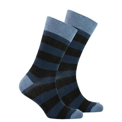 Men's Azure Stripe Socks