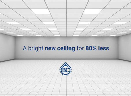 A bright new ceiling for 80% less