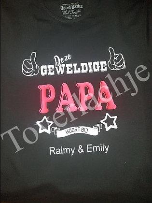 T-shirt 'Geweldige papa'