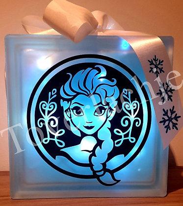 Bewerkte glasblok Frozen