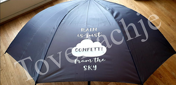 Paraplu met tekst