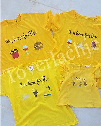 T-shirts 'vacay mode'