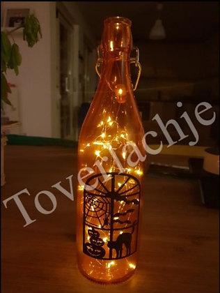 Fles met sfeerverlichting