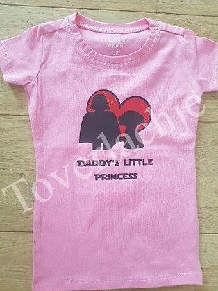 T-shirt 'Daddy's little princess'
