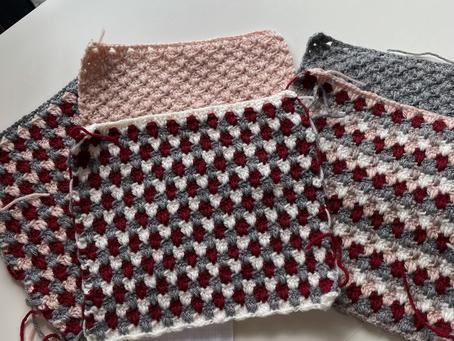 ハマナカのアメリーエフでかぎ針編みのスワッチ!