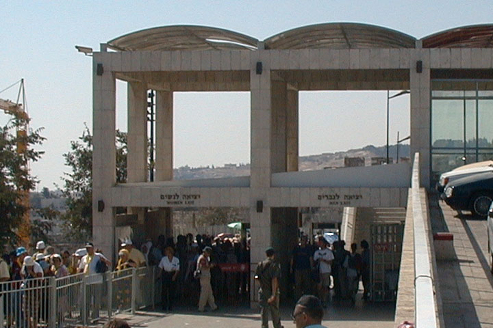 Western Wall entrance