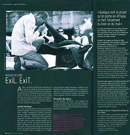 Exil.Exit. Stradda article de presse