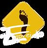 logo association empreinte oignies centre de danse losange jaune moutarde pied noire inscription empreinte en blanc
