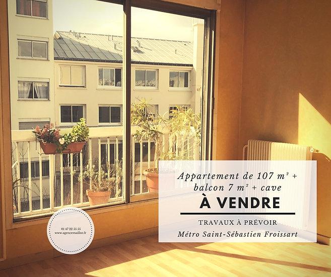 Appartement 107 m² - Paris 11ème