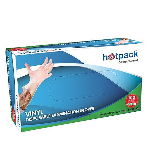 Hotpack-vinyl gloves  - medium-100pcs