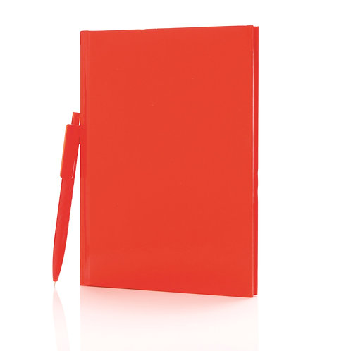 XD Design A5 Hard Cover Notebook With X3 Pen - Red