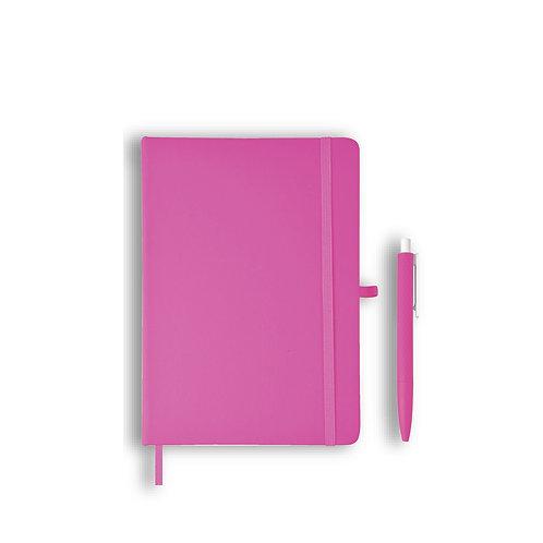 Giftology Libellet A5 Notebook With Pen Set (Pink)