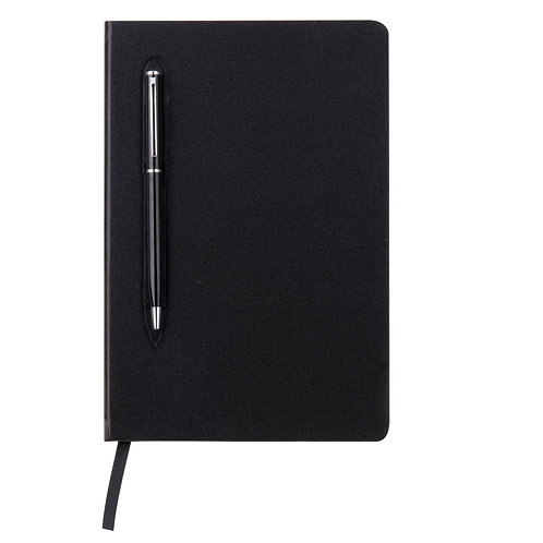 CAMPINA - A5 Leatherette Hard Cover Notebook W/ Metal Pen