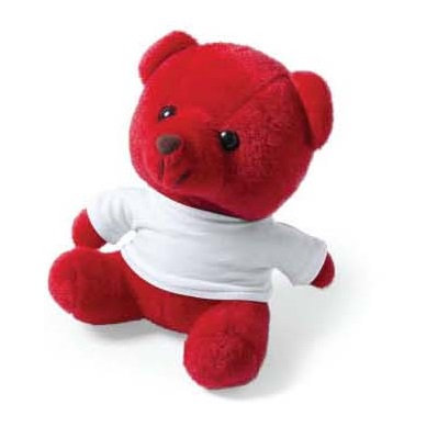 Teddy Bear In A Fun Range Of Bright Tones With White T-shir
