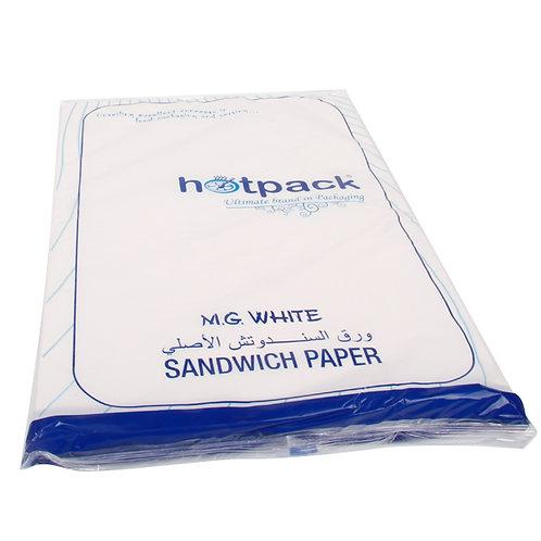 Hotpack-sandwich paper-white- 800s