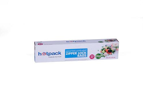 Hotpack-zipper lock bag 27*30cm - 20pcs