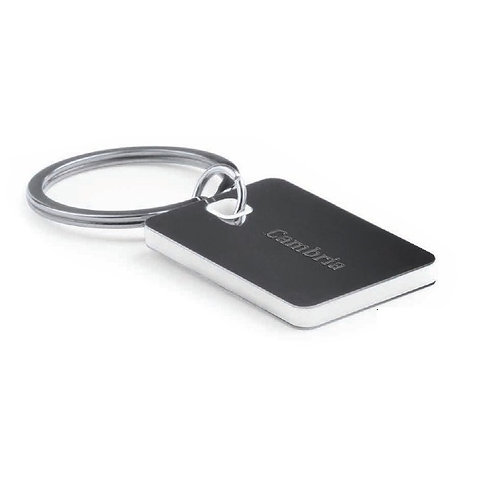 Stainless Steel Keychain In Bicolor Design