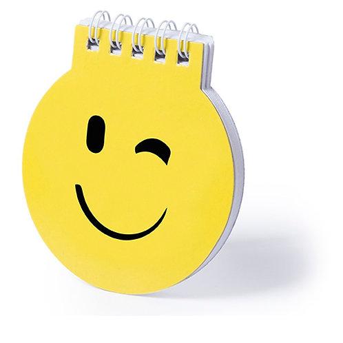Notebook Of Cheerful Emoji Designs - Wink