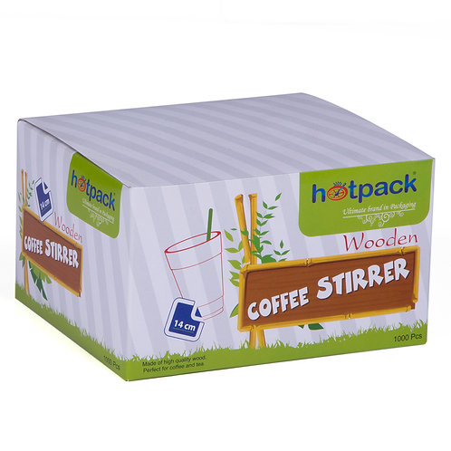 Hotpack Wooden Coffee Stirrer 14 cm 1000pcs