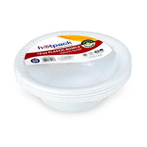 Hotpack-plastic bowls 12oz  – 25 pcs