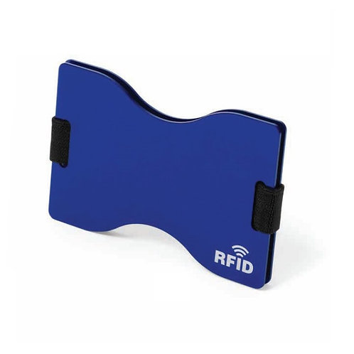 Card Holder With RFID Blocking Technology - Blue