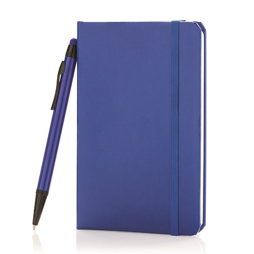 XD Design A6 Hard Cover Notebook With Stylus Pen - R. Blue
