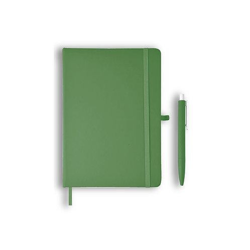 Giftology Libellet A5 Notebook With Pen Set (Green)