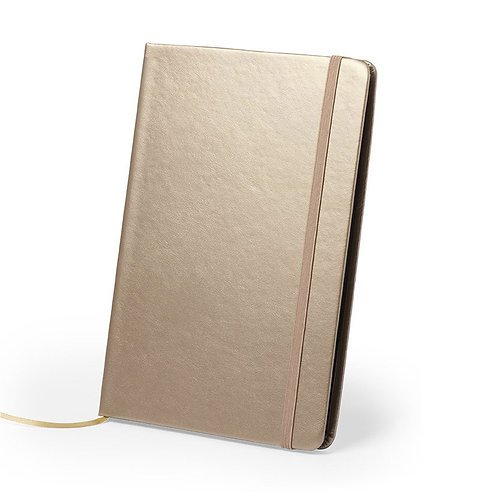 PU Leather Notepad In Eye Catching Metallic Colors.