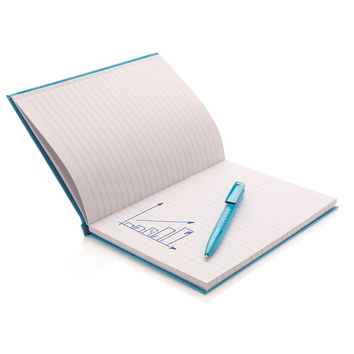 XD Design A5 Hard Cover Notebook With X3 Pen - Blue