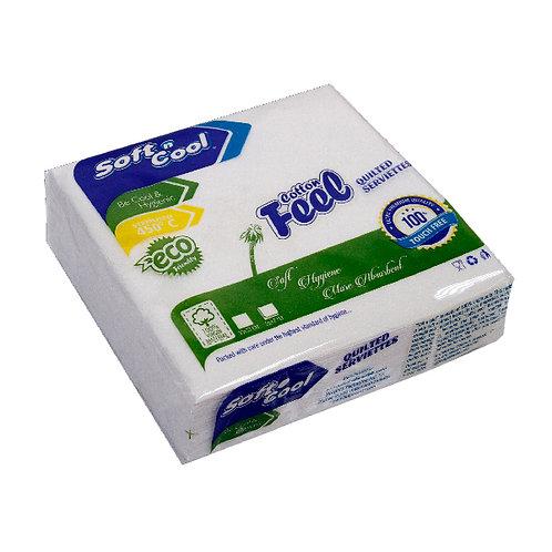 Soft n cool cotton feel paper napkin33x33 cm -25pcs