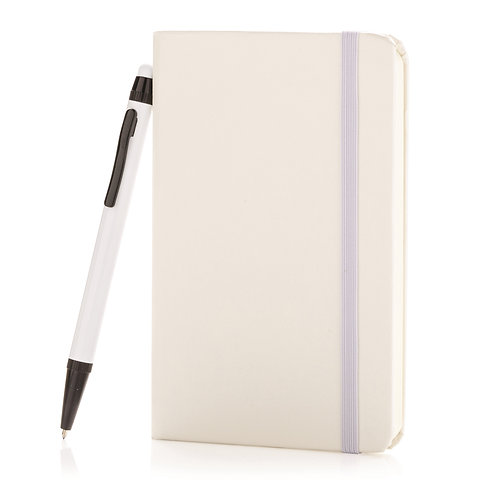 XD Design A6 Hard Cover Notebook With Stylus Pen - White