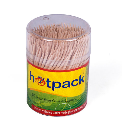 Hotpack Wooden tooth pick 400pcs/cup -24cups
