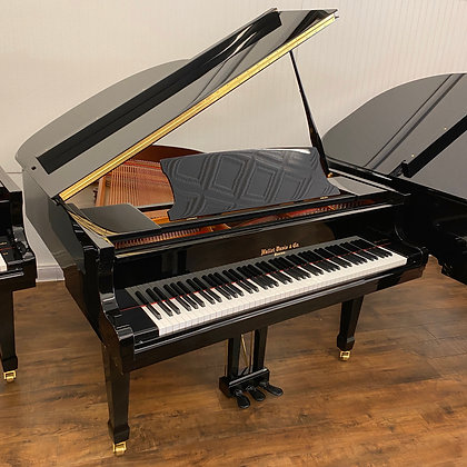 "Hallet Davis 5'3"" Baby Grand Piano - Model GP160 - Polished Black"