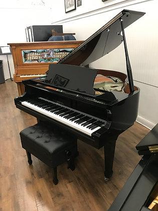 """Hallet Davis 4'10"""" Baby Grand Piano - Model GP 148 - (Special Silver Edition)"""