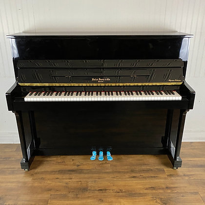 Hallet Davis Studio Piano - Model UP118 -Polished Black Finish