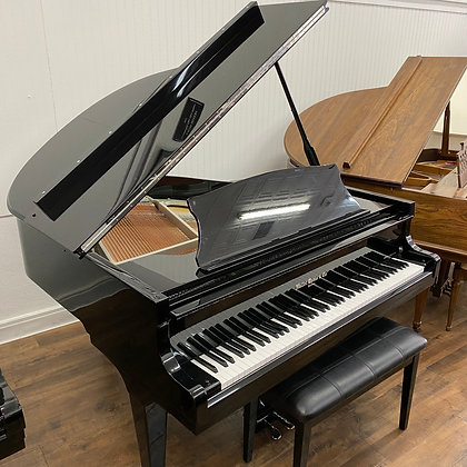 "Hallet Davis 4'10"" Chrome Accent Baby Grand (Pre-owned)"