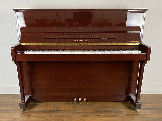 Hallet Davis Studio Piano - Model UP118 - Polished Mahogany