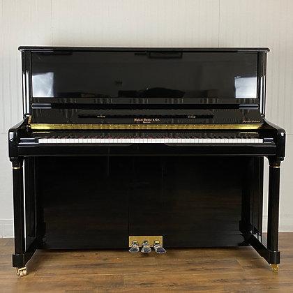 Hallet Davis Vertical Grand Piano - Model UP131Y - Polished Black