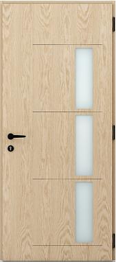 Porte d'entrée mixte côté intérieur (boi