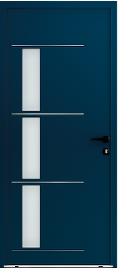 Porte d'entrée mixte côté extérieur (alu