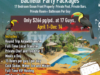 Best Bachelor Party Package in Jaco Beach for 2019.. On the Beach..