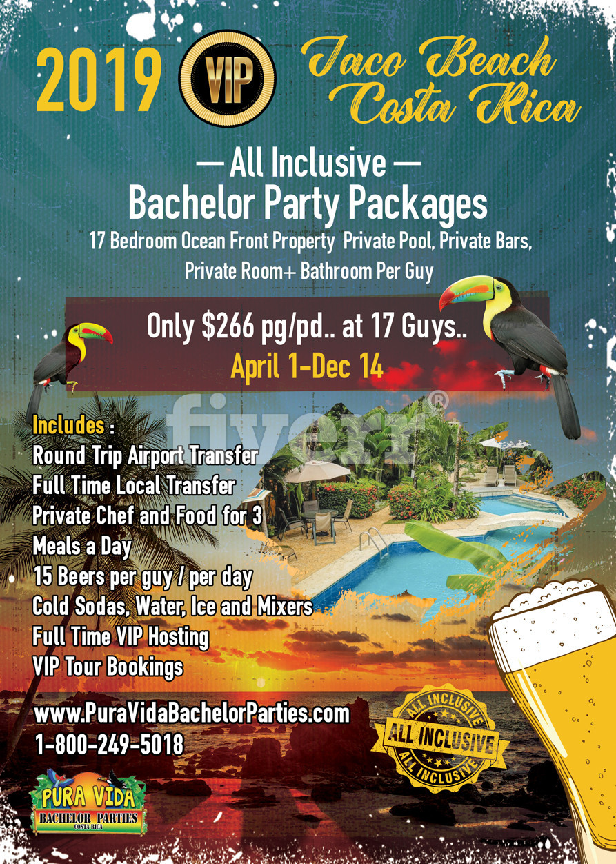 VIP Bachelor Party Packages - Jaco Beach Costa Rica - 2019..