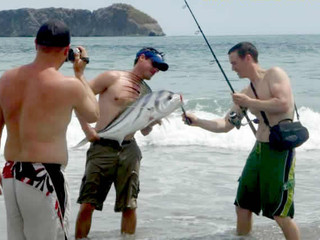 Beach Fishing - Jaco Beach Costa Rica