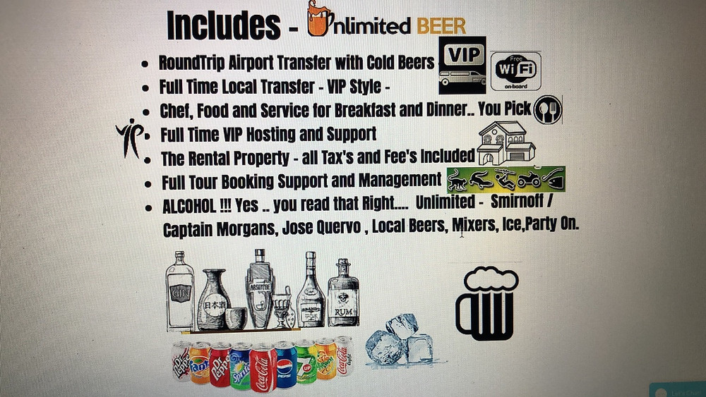 All Inclusive PackageOptions with https://www.puravidabachelorparties.com